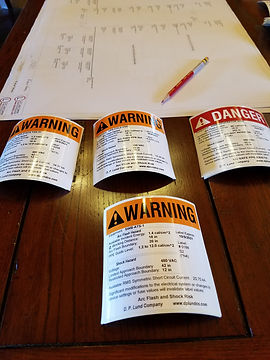 Arc Flash Warning Labels and One-Line Diagram