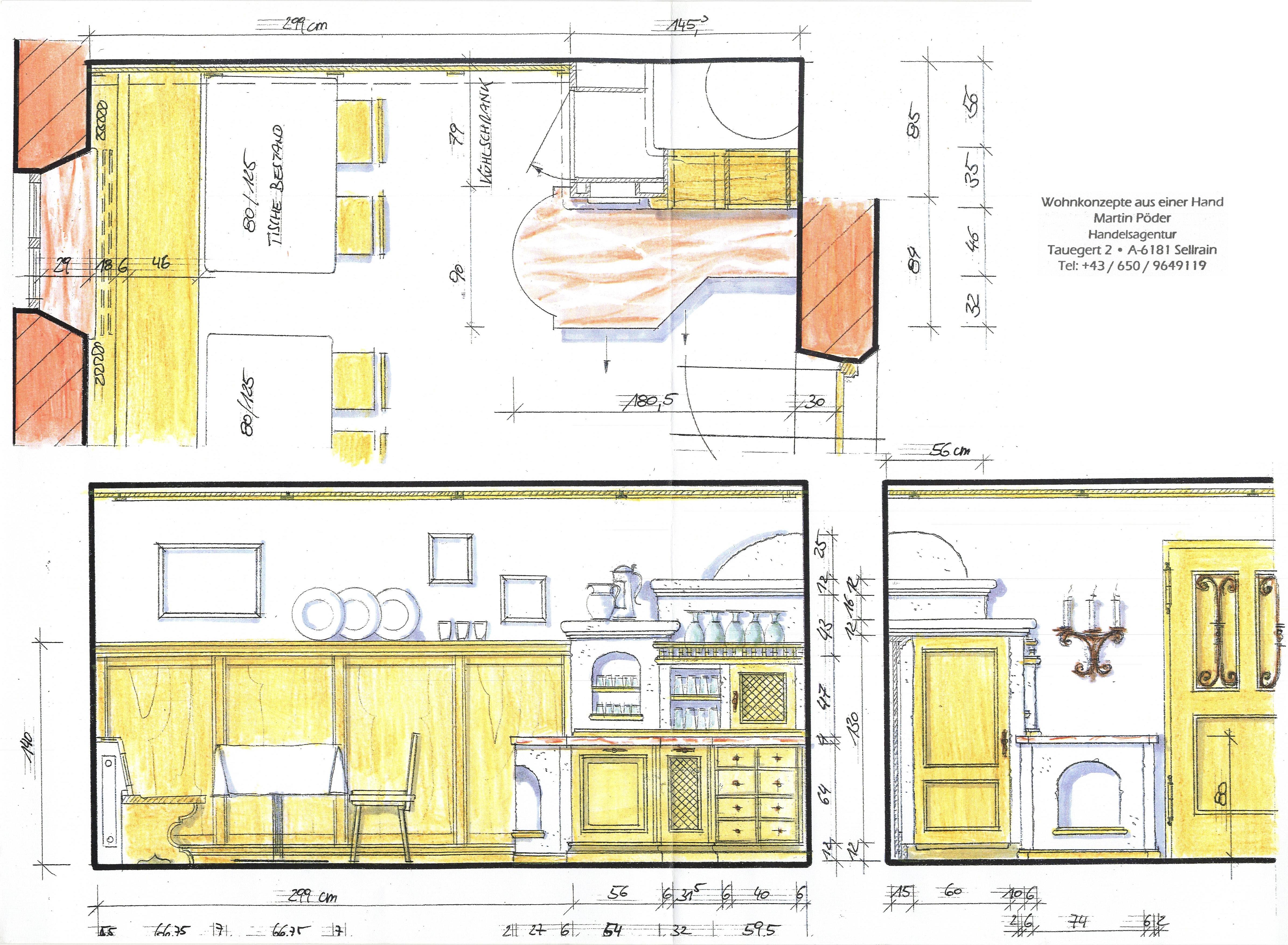plan küche landhaus 1