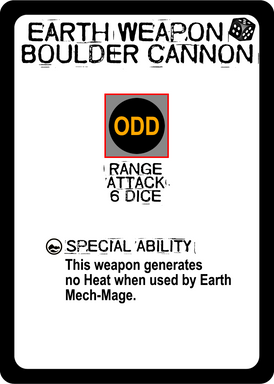Earth Weapon - Boulder Cannon