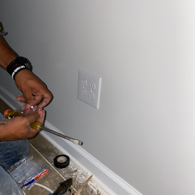 Double Outlet Install