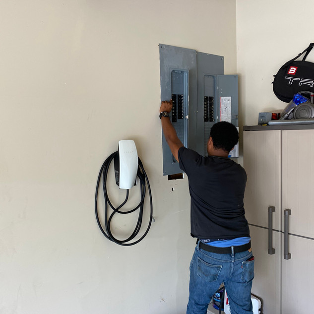 Electric Car Panel Install