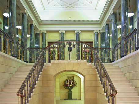 The Queens Gallery Stair Case in Buckingham Palace