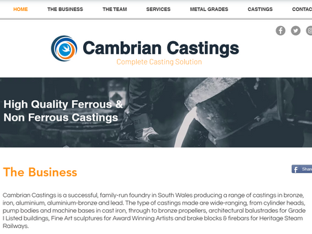 Cambrian Castings Launch New Website!