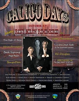 Calico Days Flyer