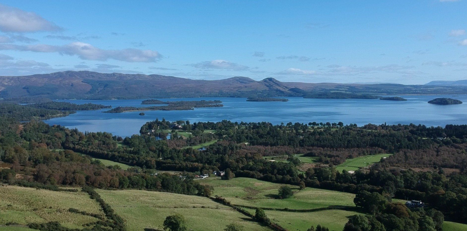 Our fields and Loch Lomond