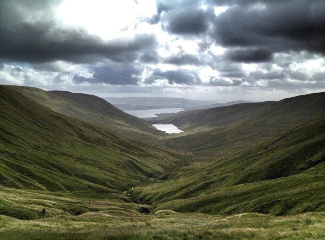 from the back of our Glen looking towards Loch Lomond