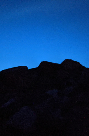 Frank Slide at night