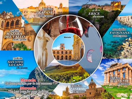 Realizzazione depliant Associazione Strutture Turistiche di Marsala per la BIT 2020