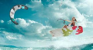 Kitesurf girl Lo Stagnone Marsala