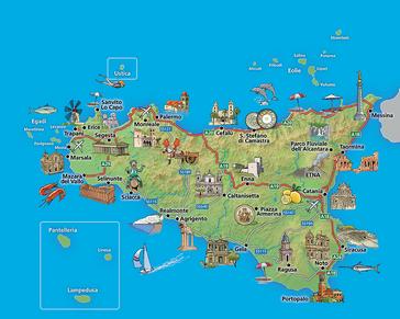Cartina Monumenti Sicilia
