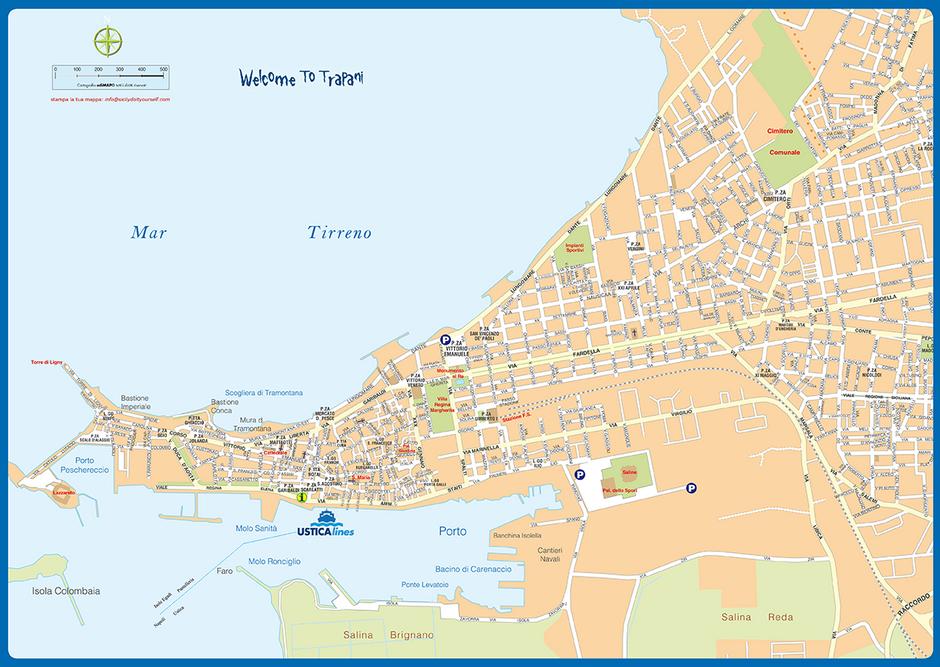 cartina Trapani