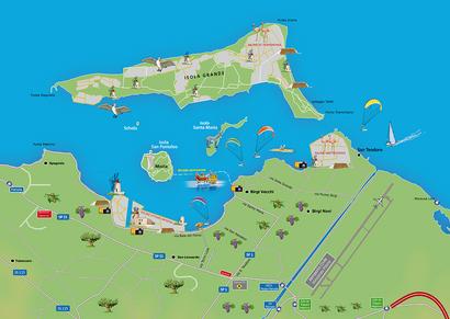 Cartina Laguna dello Stagnone Marsala