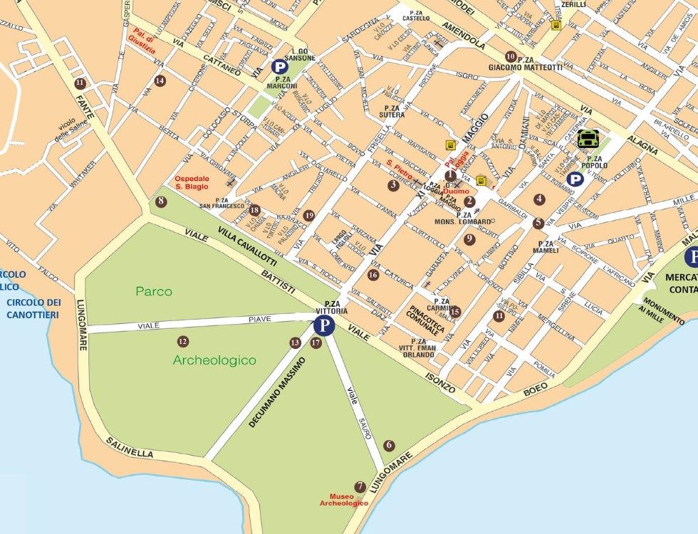 Cartina interattiva Marsala
