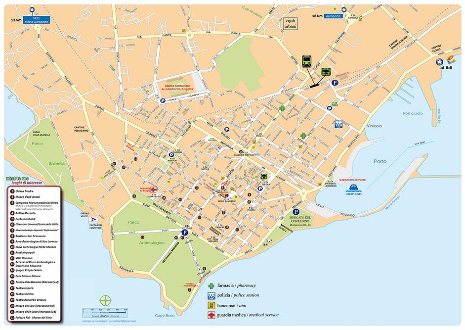 Cartina centro Marsala