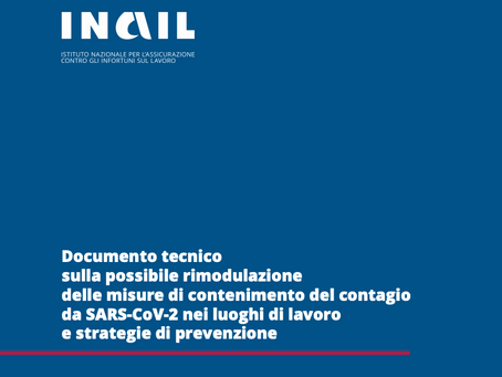 INAIL: misure di prevenzione per affrontare la fase 2
