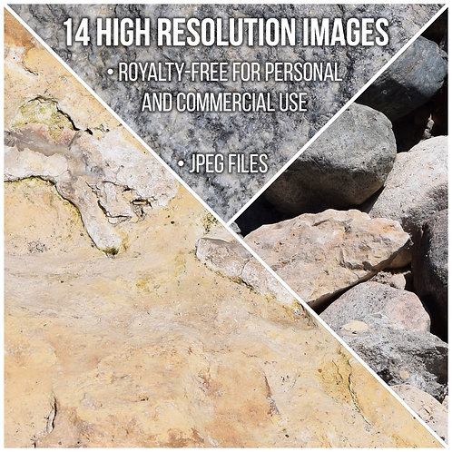 14 High Resolution Stone Textures - Digital Download