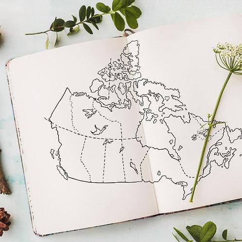 Handdrawn Canada Map - Digital Download