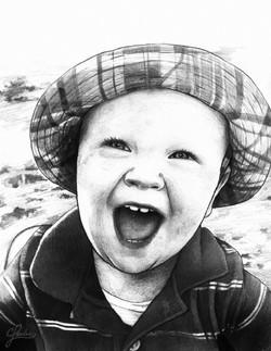Happy Face Pencil Portrait