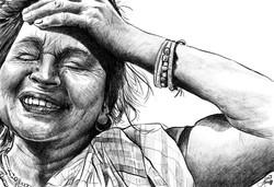 Mature Woman 2 pencil Study