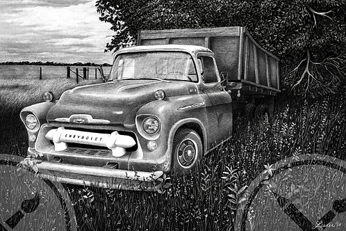 Limited Run of 50: 1957 Chevy - Pencil Drawing Print