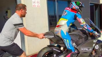 Moto2 sykler for 2019 testet på Aragon