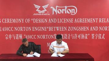 Norton i samarbeid med Zongshen