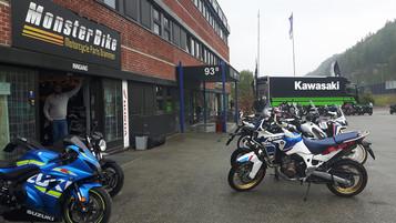 Demodager hos Monsterbike i Drammen i dag og i morgen
