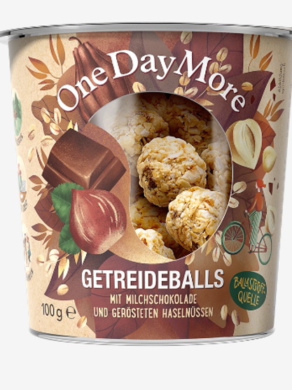 Getreideballs Milchschokolade und Haselnuss