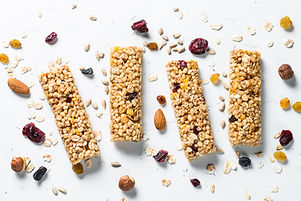 Granola bar. Healthy sweet dessert snack