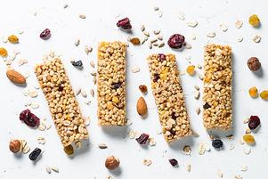 Granola bar. Healthy sweet dessert snack