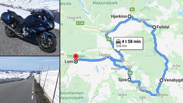 Dagstur fra Lom til Lom – Turforslag til Norges Nasjonale Motorsykkelveier