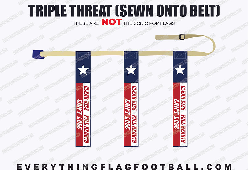 Can't Lose Triple Threat Flag Set