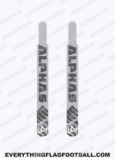 Alphas Grey Flag Set