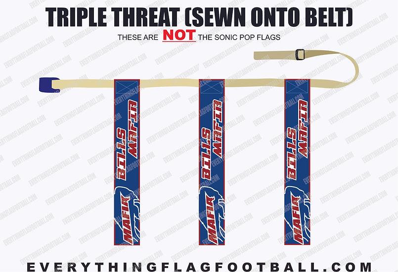 Bills Mafia Triple Threat Flag Set