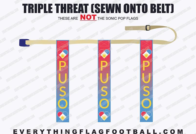 Puso Triple Threat Flag Set