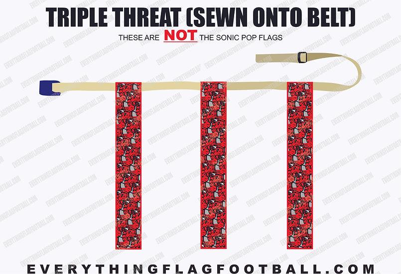 Red Bee Triple Threat Flag Set