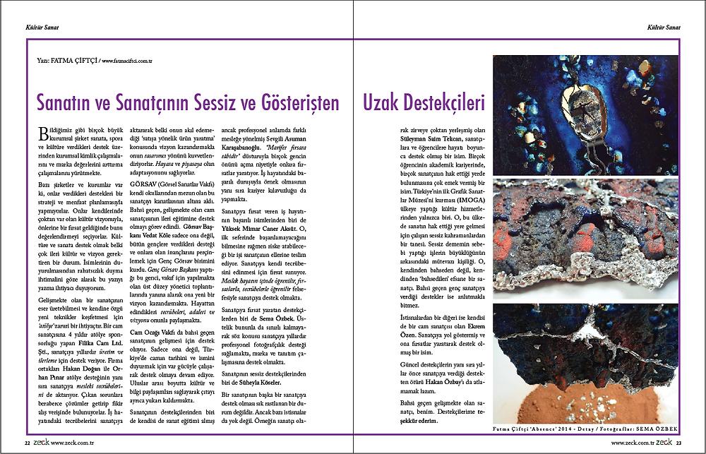 Zeck Dergisi 61.Sayı, Kültür Sanat Sf:22