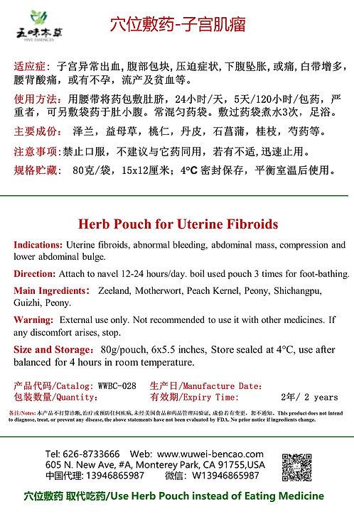 子宫肌瘤/Uterine Fibroids--Herb Pouch
