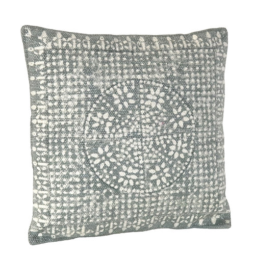 "WYATT PILLOW (16"" X 16"") SKY GREY"