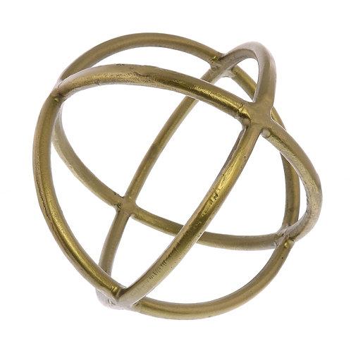 Triple Ring Sphere - Brass