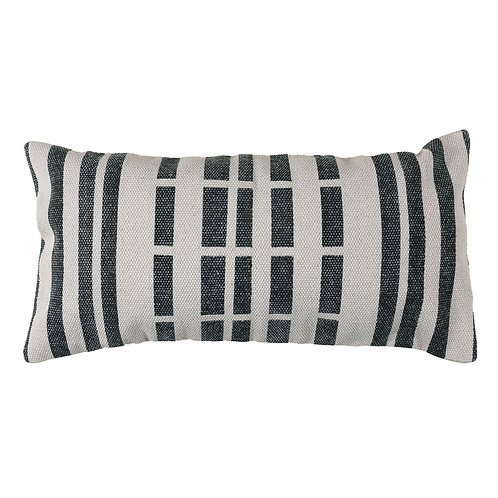 "BLOCK PRINT LUMBAR PILLOW (12"" X 24"")"