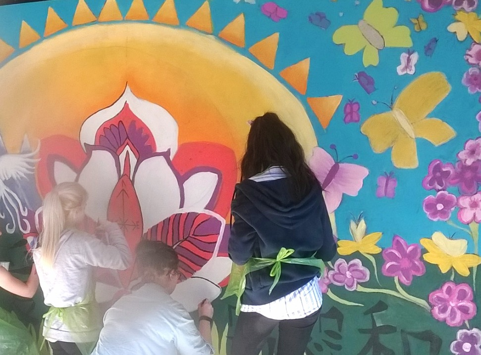 Mural painting at hospital ward
