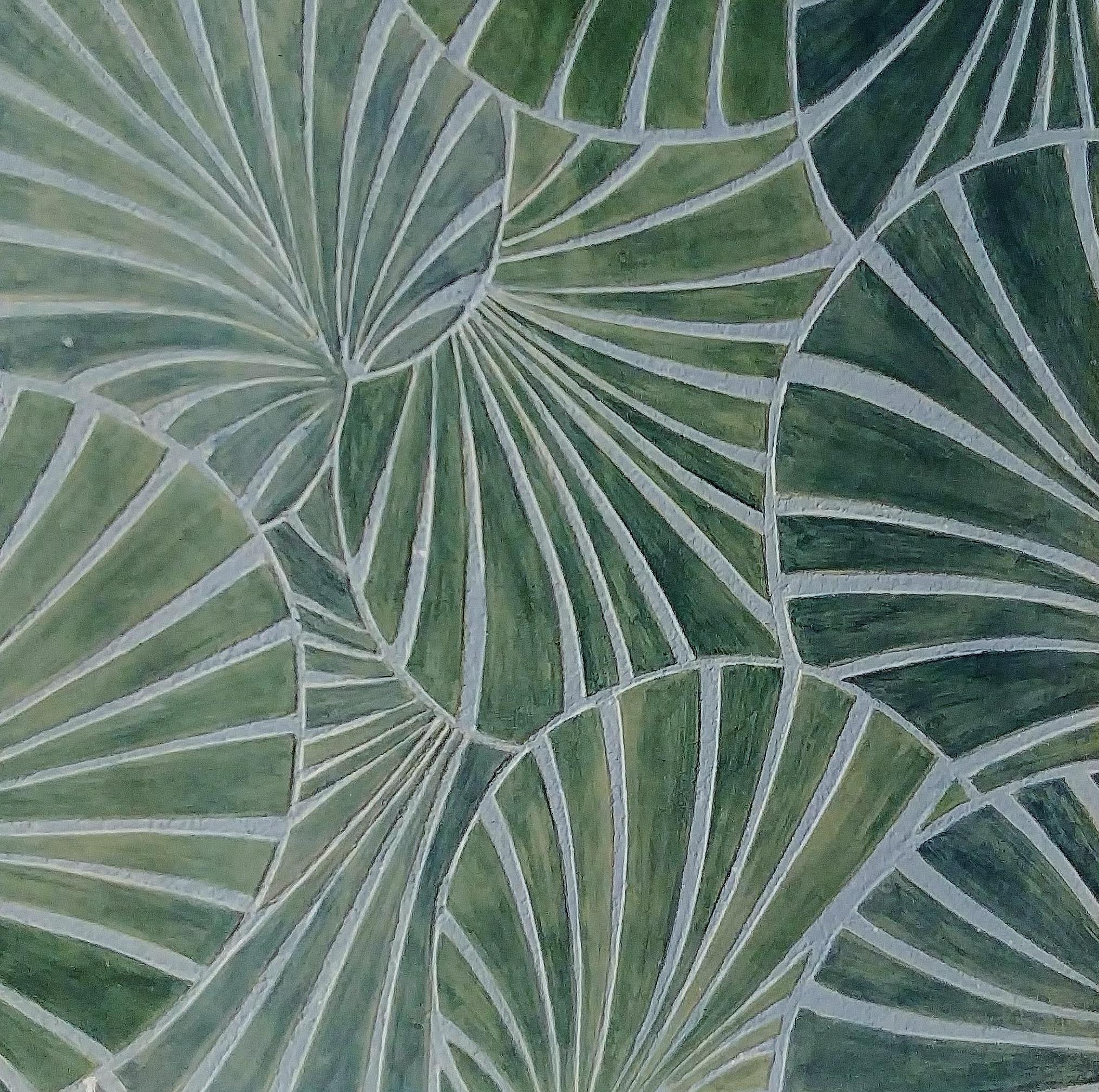 Sgraffito feuilles de palmier