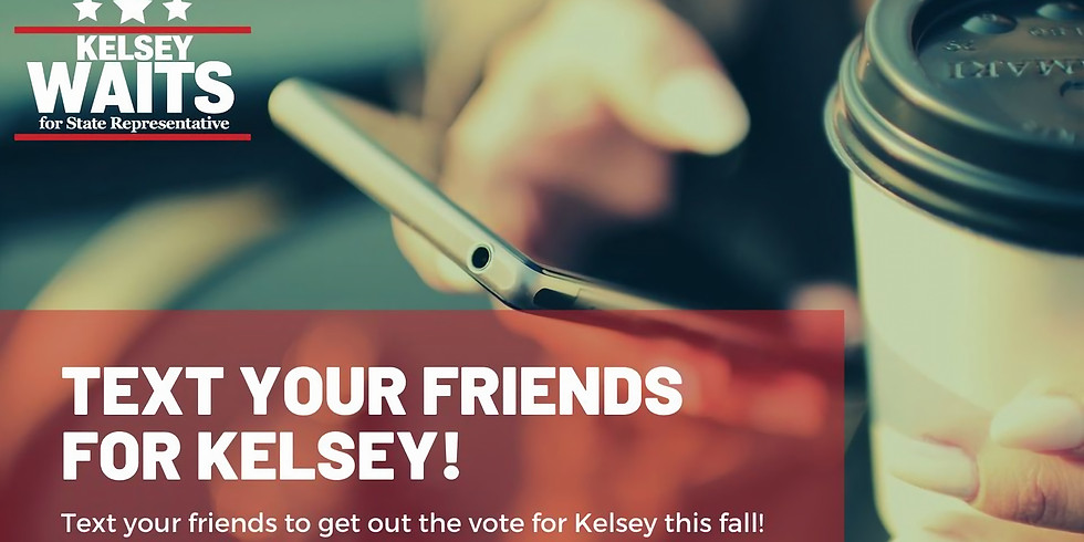 Text Your Friends for Kelsey Waits!