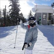 First time in my life🔅kinda scary🙈 #Jacksonhole #ski #birthdaychallenge