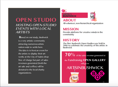 HOSTING OPEN-STUDIO EVENTS WITH LOCAL ARTISTS