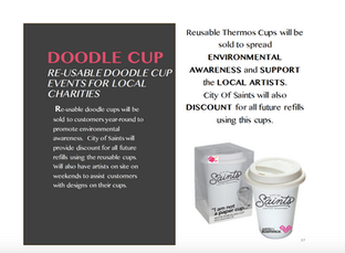 RE-USABLE DOODLE CUP EVENTS FOR LOCAL CHARITIES