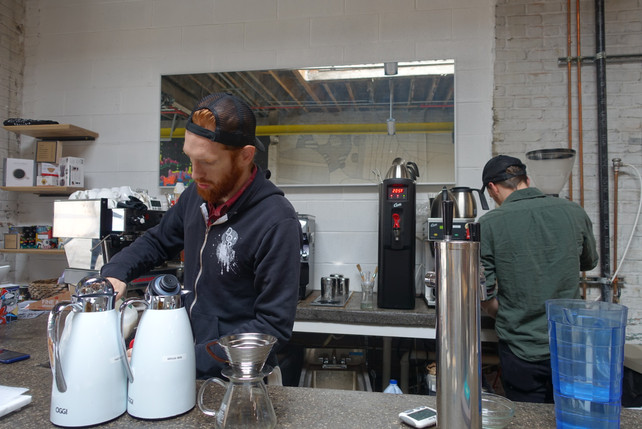 Breaking down the wall between the baristas and customers, the coffee bar set up allow baristas to interact with their customers in an intimate way.