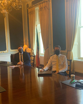 Meeting with the Minister of State for Justice, James Browne