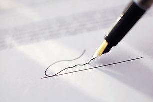 Signature avec un stylo